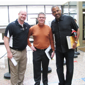 From left, Joel Dawson, operations manager for the Chrysler group at Ground Effects LLC, Scott Ringlein, CEO and founder of the Energy Alliance Group of Michigan, and Levi Thompson, professor at the Michigan Engineering, University of Michigan.