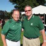 Photo caption: Tom Izzo is with EAG's Curt Monhart at the 2013 Steve Smith Charity Challenge.